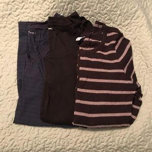 GAP and Old Navy Maternity LS tees Large